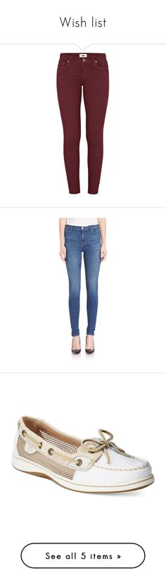 Wish list by the-black-and-white-night on Polyvore featuring polyvore, women's fashion, clothing, jeans, pants, bottoms, sweetwine, wine skinny jeans, red stretch skinny jeans, red skinny leg jeans, super stretch jeans, red jeans, activate, apparel & accessories, high waisted jeans, high-waisted jeans, high-waisted skinny jeans, super skinny jeans, blue high waisted jeans, shoes, loafers, white sand stripe, sperry topsider, striped shoes, sperry footwear, deck shoes, sand shoes, shorts…