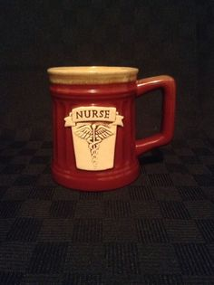 Abbey Press Nurse Coffee Cup Mug Medical Hospital Field Red #AbbeyPress