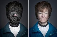 Dogs dressed as  their owners by Sebastian Magnani