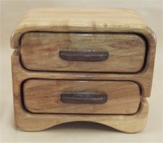 Brown Maple & Walnut Jewelry Box