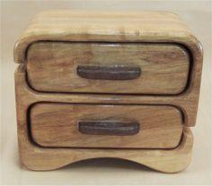 Brown Maple & Walnut Jewelry Box