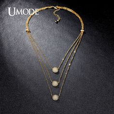 4 Designs Multi Layered Necklaces Paved White Gold Plated Choker Necklaces Jewelry For Women Collares Mujer AUN0230A