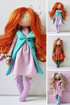 Handmade doll Textile doll Bambole Soft doll Puppen Rag doll