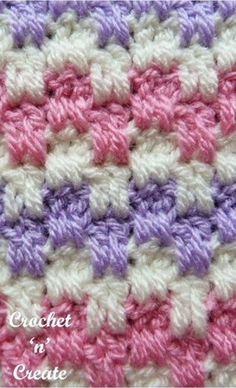 Interlocking Block Stitch Free Crochet Pattern