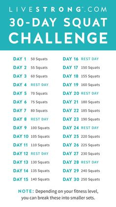 The 30-Day Squat Challenge | Livestrong.com