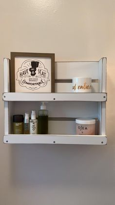Bathroom Makeover, Bathroom Interior Design, Bathroom Decor, Small Bathroom Storage, Shelves, White Bathroom, Cottage Storage, Modern Bathroom Design, Rustic Cabin Decor