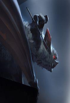 White Bat, Even Amundsen on ArtStation at https://www.artstation.com/artwork/lAo