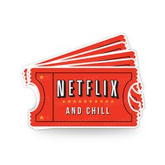 Netflix and Chill - Nerd Stickers Pop Stickers, Bubble Stickers, Preppy Stickers, Free Printable Stickers, Journal Stickers, Planner Stickers, Homemade Stickers, Snapchat Stickers, Netflix And Chill