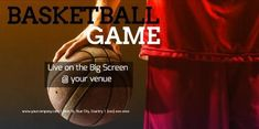 Create a sporty basketball game twitter post with a nice background picture and contrasting text.