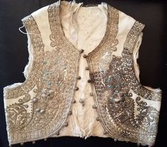 1870 Antique Ottoman Turkish Silver Embroidered Vest/Victorian Child Waistcoat  #fashion #clothing #shoes #accessories #vintage #childrensvintageclothing (ebay link) Silver Filigree, Vintage Outfits, Vintage Clothing, Ottoman, Vest, Victorian, Antiques, Child, Link