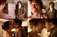 long awaited.... Hattie Morahan (Elinor Dashwood) & Dan Stevens (Mr. Edward Ferrars) - Sense & Sensibility directed by John Alexander (TV Mini-Series, BBC, 2008) #janeausten
