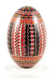 Easter eggs in batik technique red