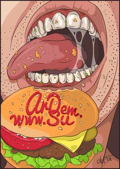 Fastfood illustration  Art Print