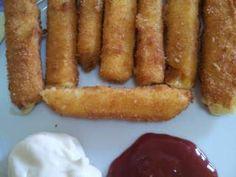 Palitos de queso rebozado y frito
