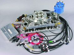 Pictured is a MPFI complete system for a Chevy Small-Block Some of the components shown above may look different from what will be included with your kit. The complete MPFI system comes … Chevy, Chevrolet, Fuel Injection, My Ride, Cadillac, Muscle Cars, Homemade, News, Home Made