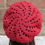 Sylvia Spiral Beret - via @Craftsy Would love to have the pattern for this hat.