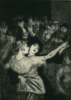 Laura Johnson Knight (English, 1877-1970),  Dancing on Hampstead Heath. 1930. Aquatint. Bolling/Withington 47. 10 3/4 x 7 3/4 (sheet 16 x 11). Edition 55.