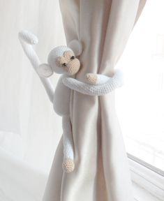 SOoo Cute! Monkey curtain tie back1 PCS Shabby chic by LamoreBoutique on Etsy