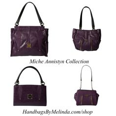 The Annistyn Collection For Miche Bags Is Great Fall It Features Demi Gloss Faux Croc Leather And Decorative Zipper Detail In Gold