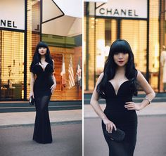 Get this look: http://lb.nu/look/6520916  More looks by Willabelle Ong: http://lb.nu/willaaaa  Items in this look:  Black Sweetheart Sheer Fishtail Maxi Dress, Suede Court Heels   #topshop