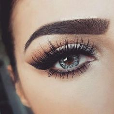 makeup, eyes, and eyebrows image: