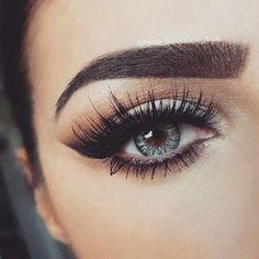 makeup, eyes, and eyebrows image:
