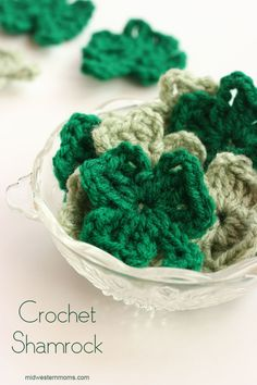 Crochet Shamrock Pattern. Perfect for St. Patrick's Day projects!