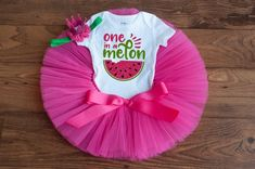 One in a melon outfit 'Addylyn' watermelon first birthday, one in a melon first birthday outfit, one in a melon birthday outfit watermelon – Party Ideas First Birthday Crown, 1st Birthday Party For Girls, One Year Birthday, First Birthday Themes, 1st Birthday Outfits, Birthday Tutu, First Birthdays, Birthday Ideas, Birthday Bash