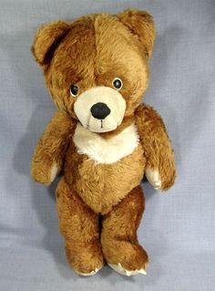 VINTAGE ANTIQUE LARGE SWEET BIG HEAD STRAW STUFFED SOVIET RUSSIAN TEDDY BEAR TOY #Handmade #AllOccasion
