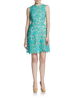 ECI Floral Lace Dress