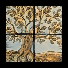 Tree of Life backsplash tiles made by hand in Vermont by Natalie Blake Studios.