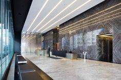БЦ Arcus III, лобби - OfficeNext Lobby Design, Hall Design, Lobby Interior, Office Interior Design, Corporate Interiors, Office Interiors, Best Office, Lobby Reception, Office Lobby
