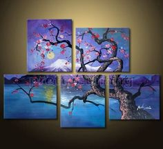 love this! blue with purple painting