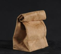 Browm paper bag in leather by ArthurA