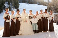 Fur stoles/muffs/capes for a snowy snowy winter wedding...  Not that I will have snow, but the concept is gorgeous.