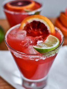 Celebrate National Tequila Day with a blood orange margarita