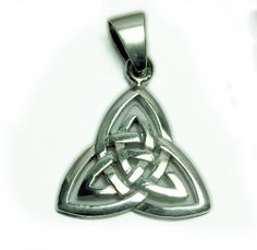 Amazon.com: 925-Sterling Silver Celtic Double Trinity Triquetra Pendant: Jewelry