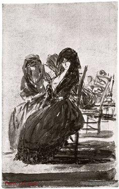 La Duquesa de Alba Sentada de Luto por Francisco de Goya, 1795-1797.