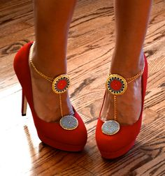 Custom Made to Order- shoe clip jewelry anklet