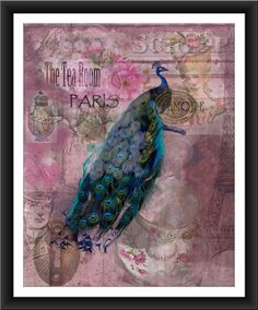 A vintage inspired art collage print of by forloveofwords on Etsy, $18.00