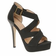 strappy black shoes