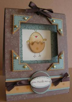 3-D Window Frame SU A Good Egg  Stampin' Up!