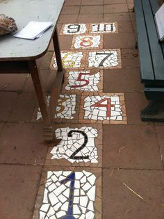 Numbers - great idea for the woods or to the side of the house