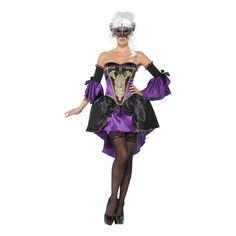 Det finns ingen motsättning mellan att vara elegant och sexig, vilket denna maskeraddräkt i barockstil visar. Med denna kommer du att bli nattens drottning oc...