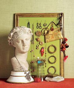Dresser-top jewelry organization and presentation.