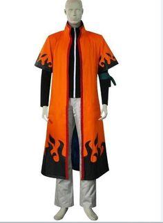 Naruto Sarutobi 3rd Hokage Halloween Cosplay Costume Hat Sash Top Overcoat
