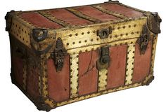 19th-C. Carriage Trunk  Love it!