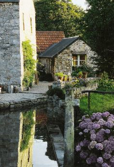 "bluepueblo: "" Medieval Village, Cote Ouest, France photo via cathy "" Belle France, France 3, Stone Cottages, Stone Houses, The Places Youll Go, Places To Go, Medieval Village, Beautiful Homes, Beautiful Places"