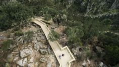Astonishing photos reveal the massive scale of the zigzagging Paiva Walkways in…