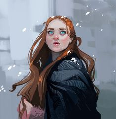 ArtStation - Sansa and Arya Stark, Lena Kroshilina ArtStation - Sansa und Arya Stark, Lena Kroshilin Art Game Of Thrones, Dessin Game Of Thrones, Art And Illustration, Fantasy Characters, Female Characters, Arte Nerd, Game Of Trones, Sansa, Cultura Pop